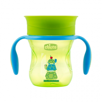 CHICCO krūze 360 PERFECT CUP, 12m+, 200 ml