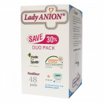 LADY ANION ikdienas ieliktnīši PANTILINER, 155 mm, 48 gab.