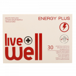 LIVE WELL ENERGY PLUS kapsulas, 30 gab.