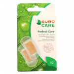 EURO CARE caurspīdīgie plāksteri PERFECT CARE, 25x57 mm, 10 gab.