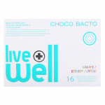 LIVE WELL CHOCO BACTO tabletes, 16 gab.