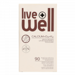 LIVE WELL CALCIUM + D3 + K2, капсулы, 90 шт.