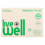 LIVE WELL GINKGO PLUS kapsulas, 30 gab.