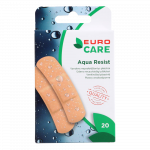 EURO CARE plāksteri AQUA RESIST, 19x72 mm, 20 gab.