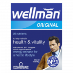 VITABIOTICS WELLMAN tabletes, 30 gab.