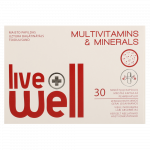 LIVE WELL MULTIVITAMINS & MINERALS капсулы, 30 шт.